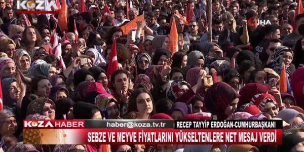 "CUMHURBAŞKANI RECEP TAYYİP ERDOĞAN ""BU BEREKET KUYRUĞU,FIRSATÇILARA DERS VERME KUYRUĞU"