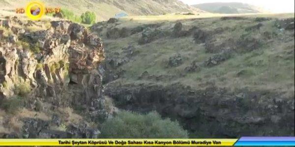 Şeytan Köprüsü Ve Doğa Sahası Kısa Kanyon Bölümü Muradiye Van 4K UHD