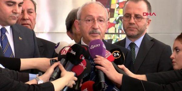 CHP lideri Kemal Kılıçdaroğlu, DP genel başkanı Gültekin Uysal'ı kabul etti
